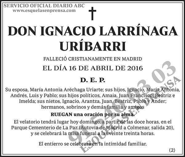 Ignacio Larrínaga Uríbarri